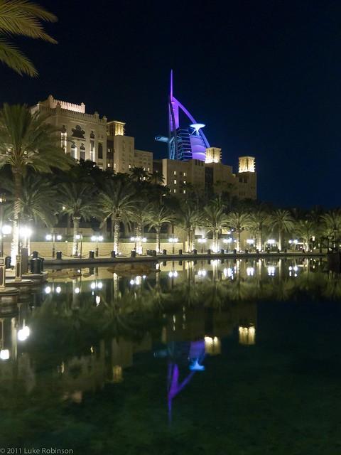 Burj-al-Arab overlooking Souk al-Madinat