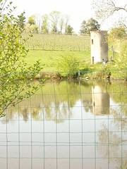 Ambierle : vue depuis le Domaine des Palais (avril 2012)