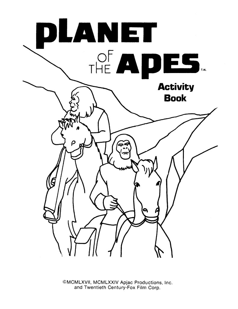 Planet of the Apes Activity Book 0200002