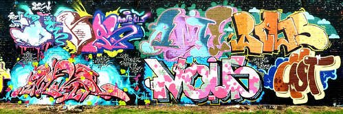 "No frills just graffiti , Cardiff 2011 by Mr DEVAS -LLP,NoFrills ""D Squad"""