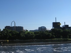 riverfront, with inflated metrodome