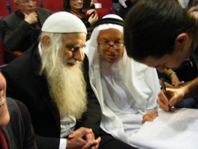 Rabbi Menachem Froman and Ibrahim Abuelhawa, the leading Jewish and Muslim peacemakers