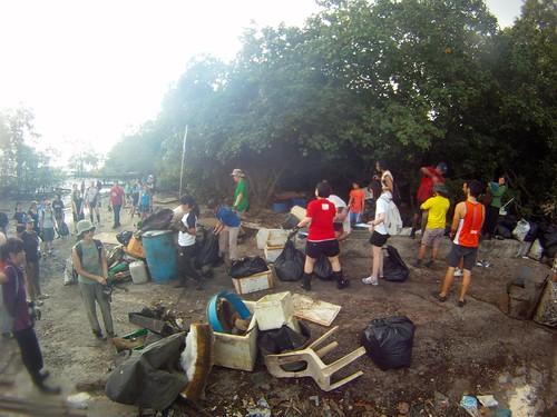 Pre-NDP Lim Chu Kang Mangrove Cleanup 2011