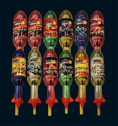 Epic Fireworks 2011 Display Packs - Dirty Dozen 1.3g Rocket Selection