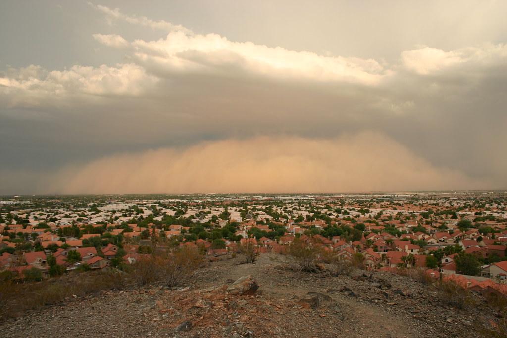 Haboob Approaching Ahwatukee - July 31, 2011