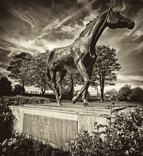 Red Rum Statue,Aintree