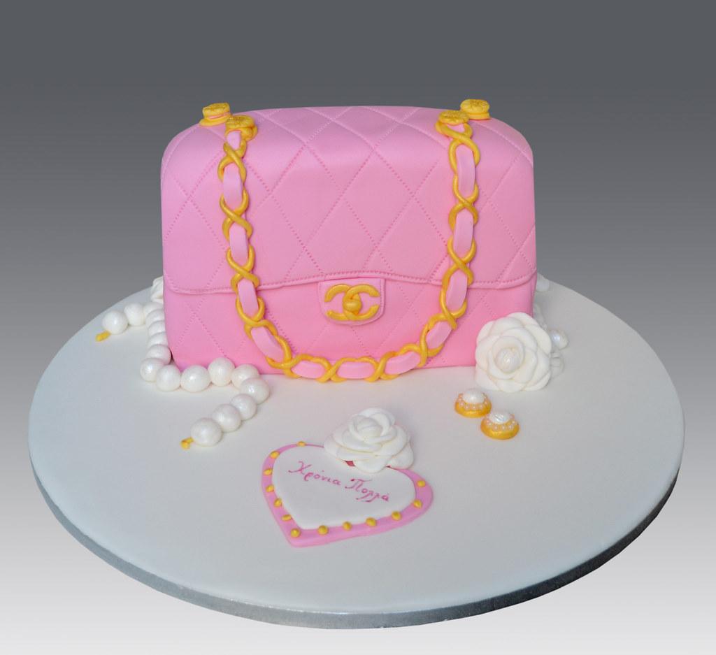 4a94fb21bcdd Pink Chanel Bag Cake