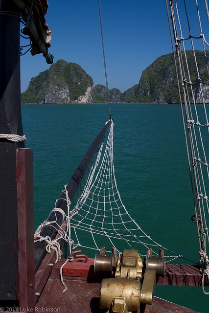 The view from our front door, Paloma Cruises, Ha Long Bay