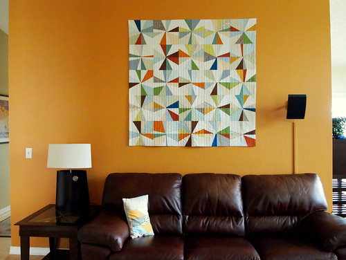 the big orange wall quilt