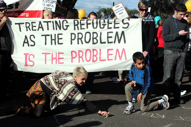Treating Refugees as the problem is the problem - Refugee Rights Protest at Broadmeadows, Melbourne from Flickr via Wylio