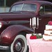 1935 Oldsmobile and weddingcake