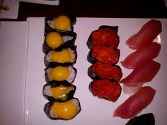 Raw Egg Sushi