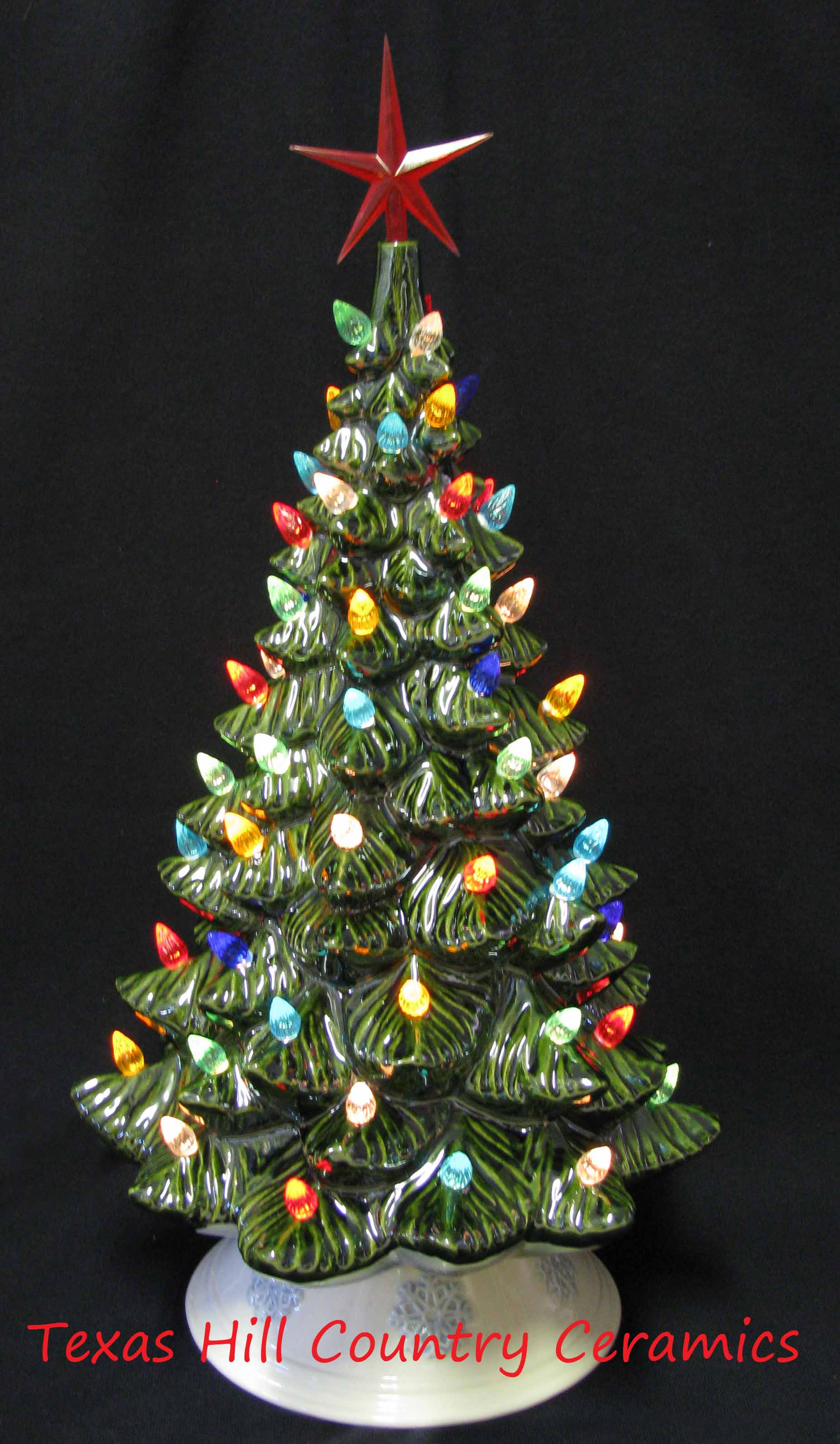 19 inch tall Vintage Ceramic Christmas Tree with Electric ...