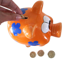 Money saving image of a piggy bank