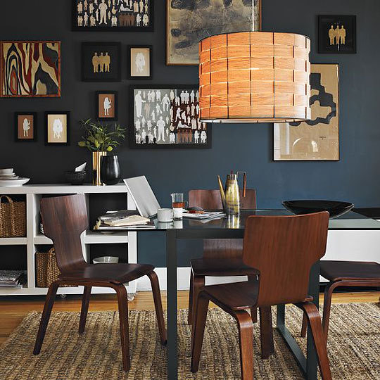West Elm {black, White And Beige Modern Dining Room With
