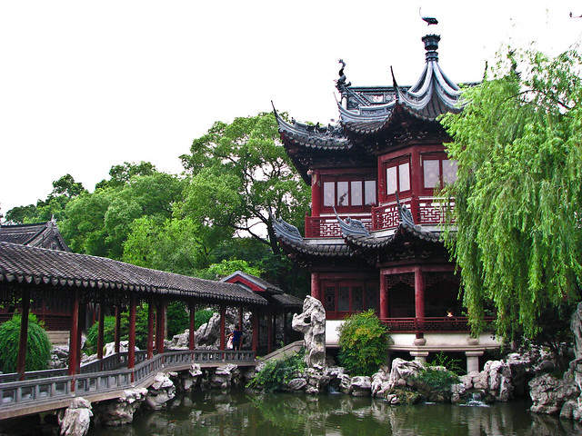 Los Jardines de Yuyuan, Shanghái, China.