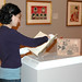 August 13, 2007 - 11:23am - Book installation in process in the gallery.