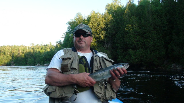 Andy with a nice WB Salmon
