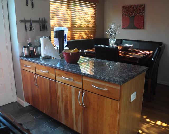 kitchen reno after - island