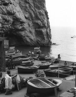 Amalfi fishermen and boats