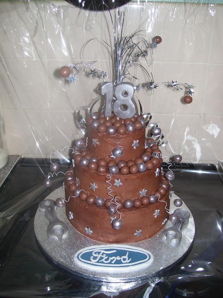 Chocolate 3 Tier 18th Birthday Cake