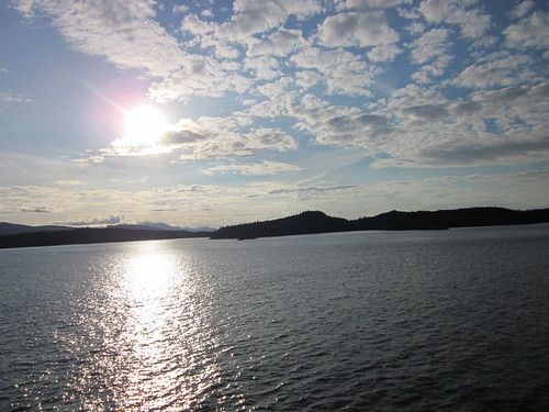 Sunset while on the BC Ferries to Vancouver