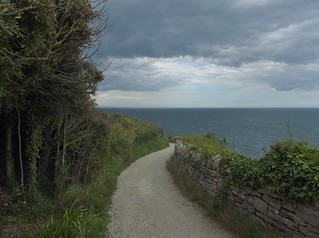 The Coastal Path at Durlston Country Park and National Nature Reserve in Swanage, Dorset, England - June 2010