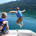 Small photo of Kaden jumps in