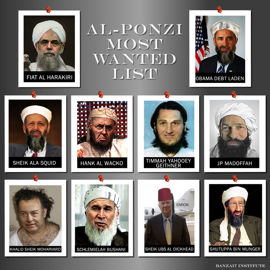 AL PONZI MOST WANTED LIST