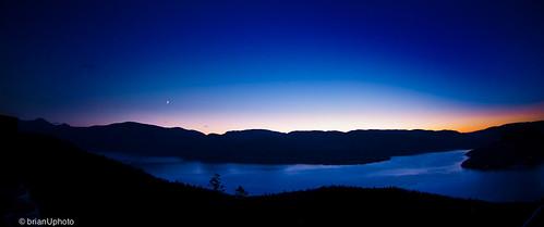 blue lake water night evening twilight dusk okanagan resort okanaganlake sparklinghill vernonmoon