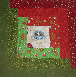 LOG CABIN CHRISTMAS QUILT BLOCK