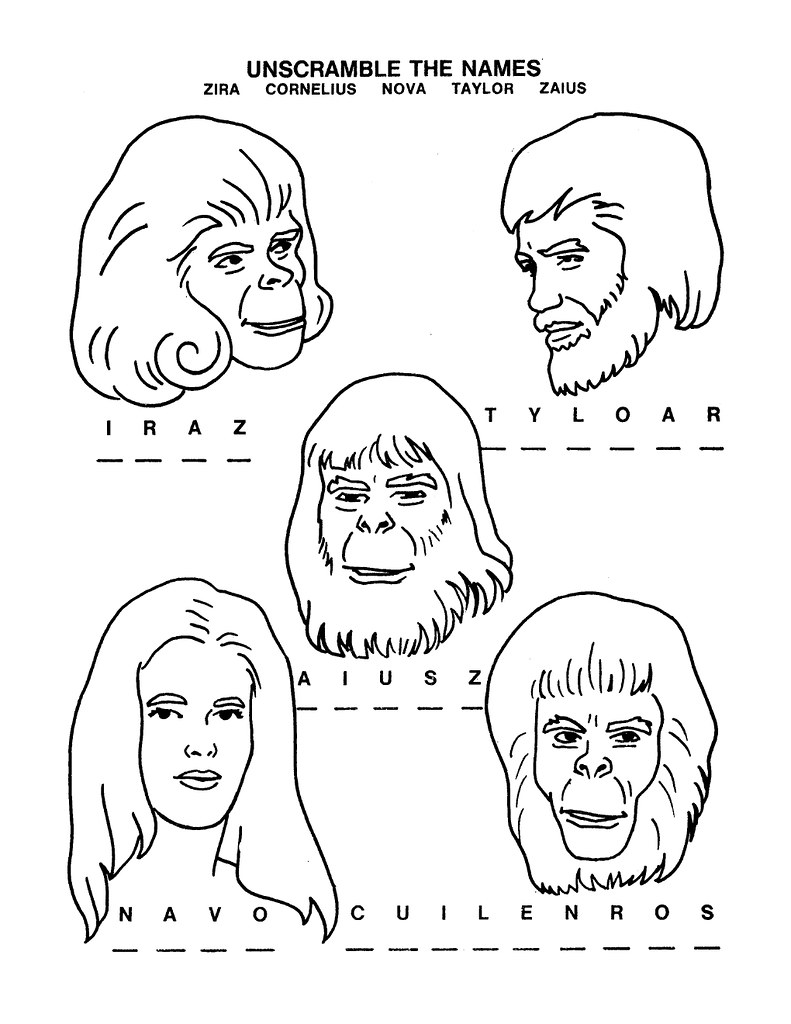 Planet of the Apes Activity Book 0200003