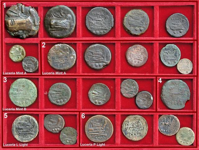 x Luceria Roman Republican struck Bronzes, Second Punic War Period