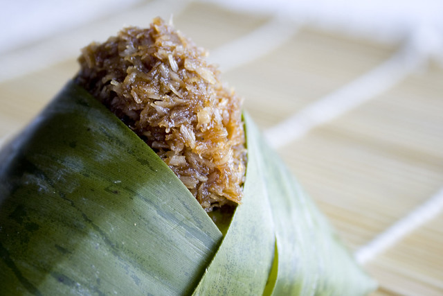 Coconut Sticky Rice In Banana Leaves (Pulut Inti) Recipe ...