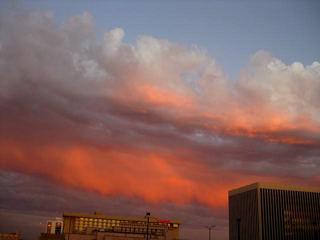 Orange Under Clouds