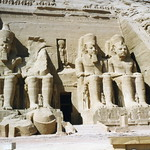 Abu Simbel, façade of the Great Temple
