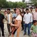 Audrey with a Crowd of People - Rajshahi, Bangladesh