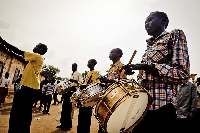 Marching band in Juba