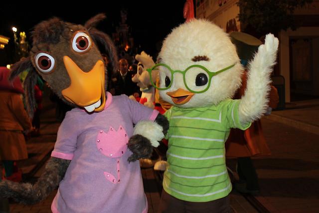 Meeting Chicken Little and Abby Mallard