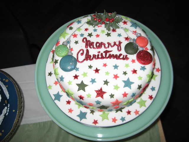 Christmas Cake Decoration With Stars : Star christmas cake Flickr - Photo Sharing!