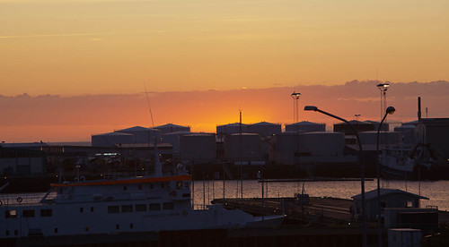 Midnight Sunset, Reykjavik Harbor