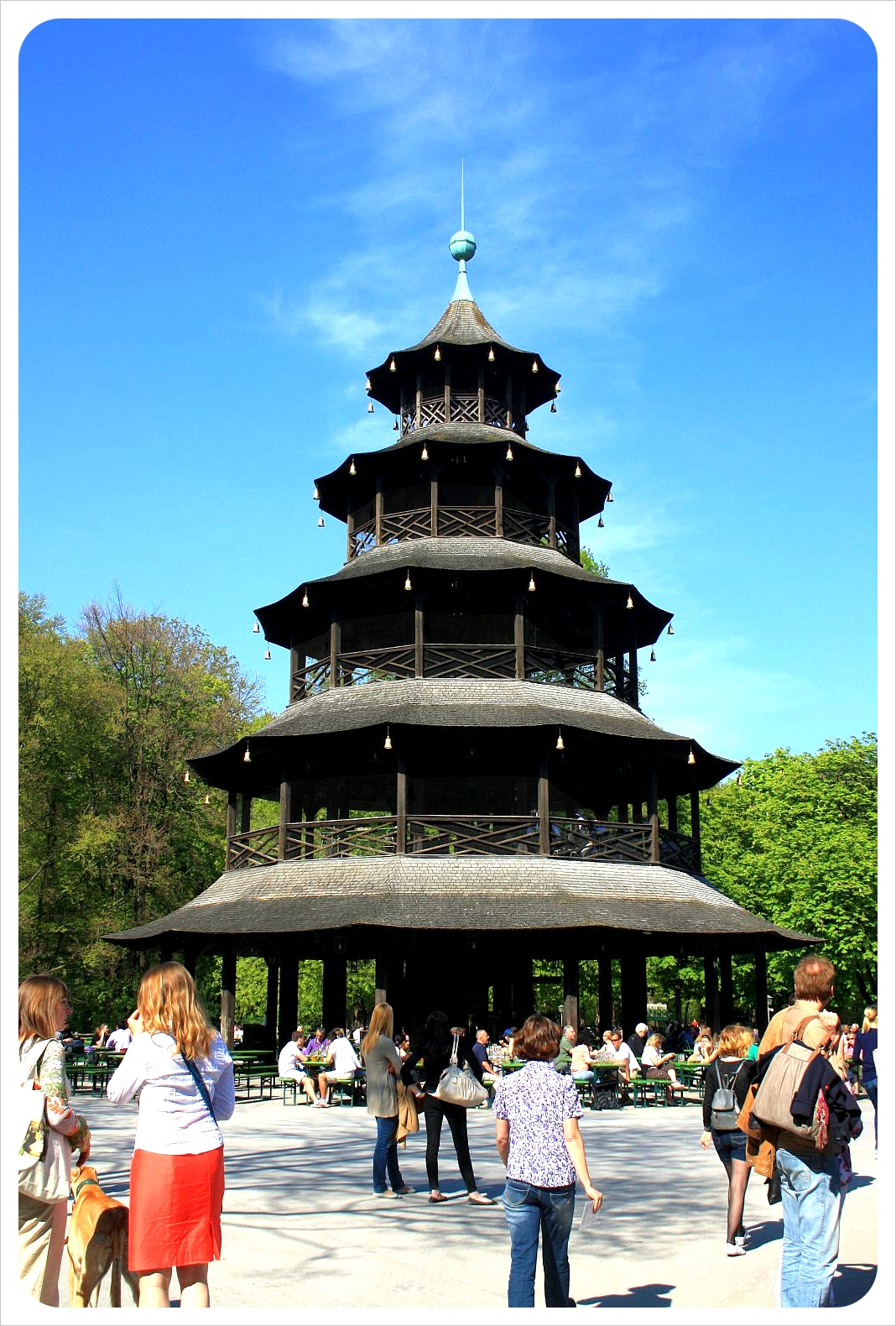 Chinese Tower in Munich