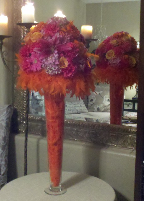 Orange and hot pink tall centerpiece flickr photo sharing