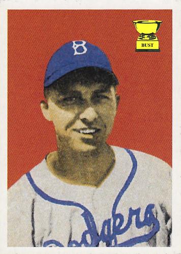 Baseball Card Bust Gil Hodges 2002 Topps Bowman Reprints