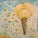 Instant Icecream food painting for the vegetarian recipes cookbook by Australian artist Fiona Morgan