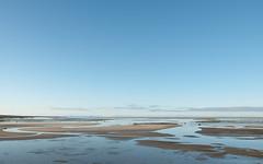 horizon, beach, sand, water, body of water, natural environment, mudflat, reflection, shore, coast, sky,