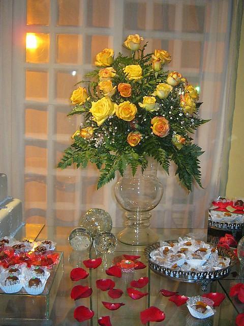 Casamento Decoração Vermelho Branco e Dourado 11 59223657  Flickr