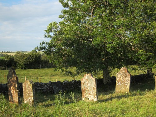 graves at the old stone church