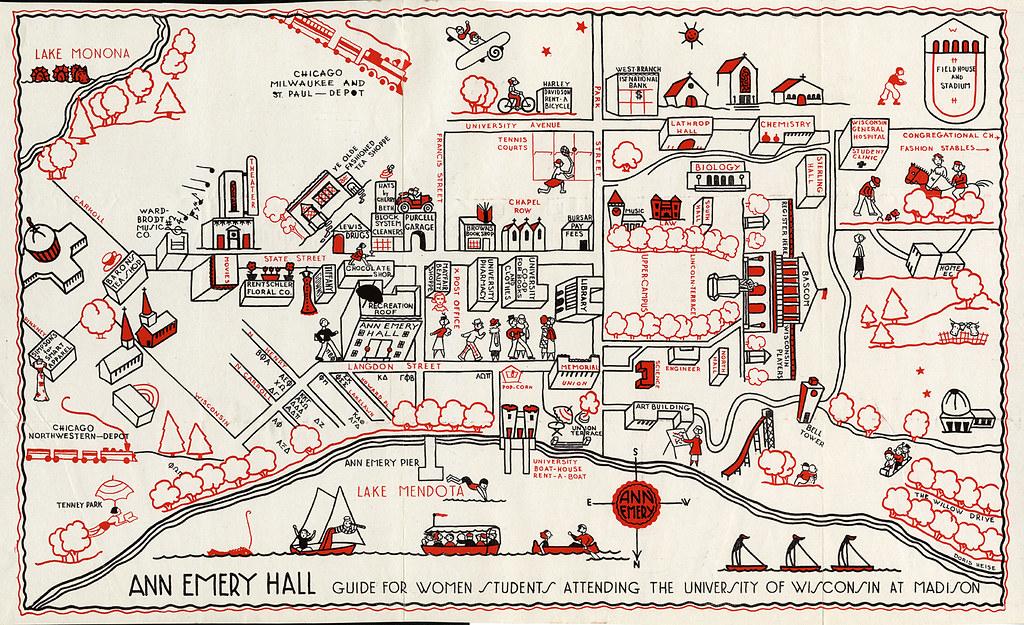 University of Wisconsin campus map, 1927 | University of Wis… | Flickr