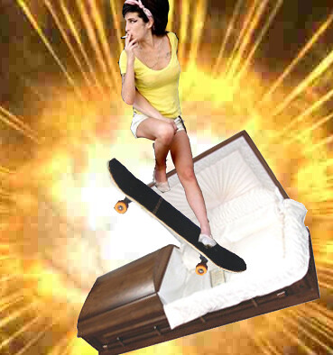 amy winehouse kickflipping out of a coffin | Flickr ... Amy Winehouse